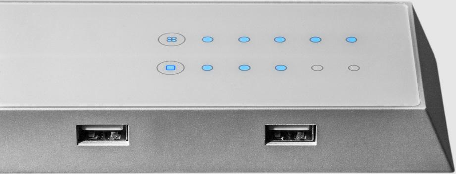 Sensor-Touch Dimmer und USB-Ports