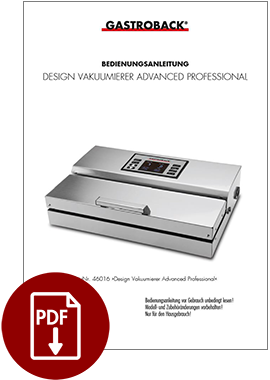 46011 - Design Vakuumierer Advanced Professional - BDA