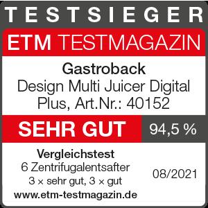 GASTROBACK® Entsafter - 40152 Design Multi Juicer Digital Plus