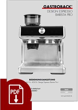 42616 - Design Espresso Barista Pro - BDA