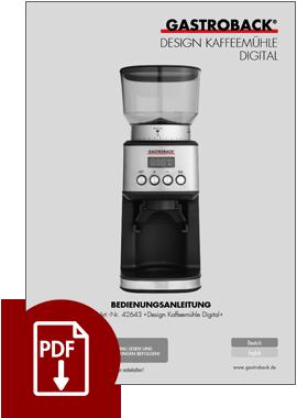 GASTROBACK® Kaffeemühle - 42643 Design Kaffeemühle Digital - BDA