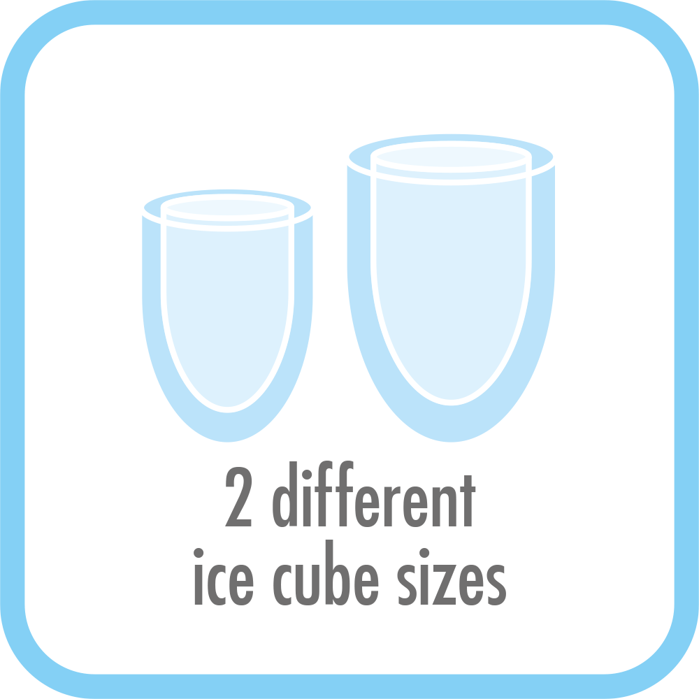 Ice Maker Bartender Pro - Bullet-shaped ice cubes with two sizes