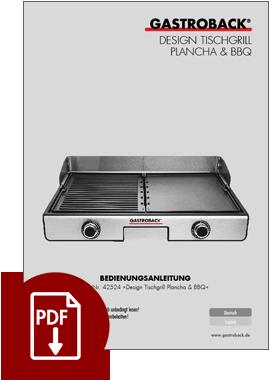 42524 - Design Tischgrill Plancha & BBQ - BDA/IM