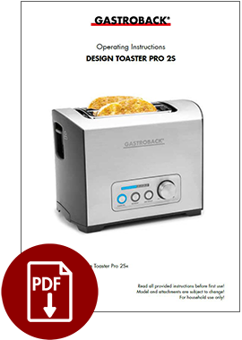 62397 - Design Toaster Pro 2S - Operating Instructions