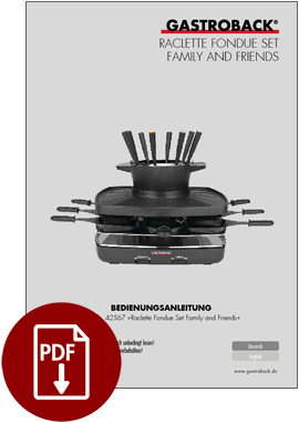 42567 - Raclette Fondue Set Family and Friends - IM