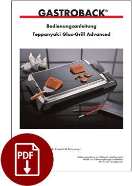 42535 - Teppanyaki Glas-Grill Advanced - BDA