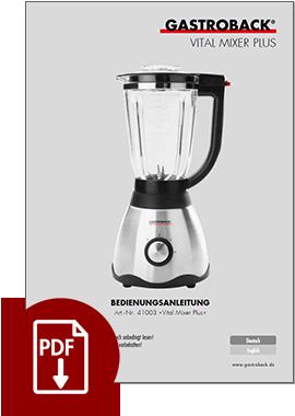 41003 - Vital Mixer Plus - BDA