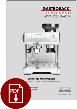 62619 - Design Espresso Advanced Barista - Operating Instructions