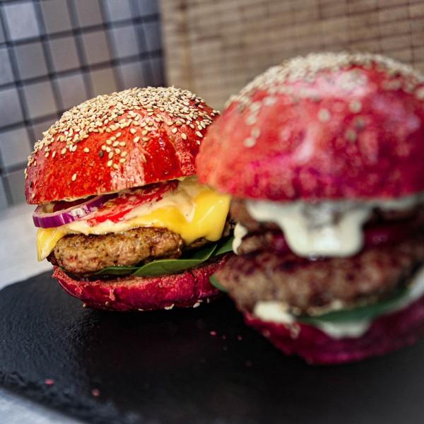 Bunte Burger Buns