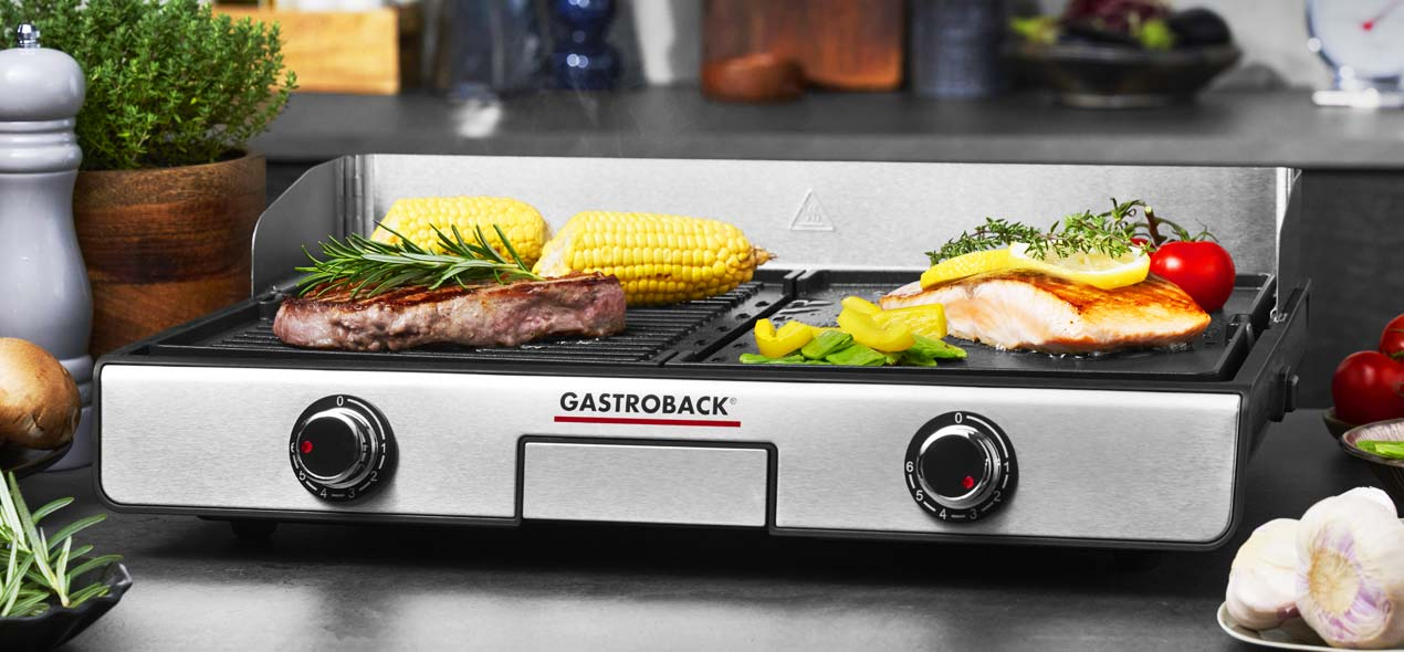 GASTROBACK® Design Tischgrill Plancha & BBQ