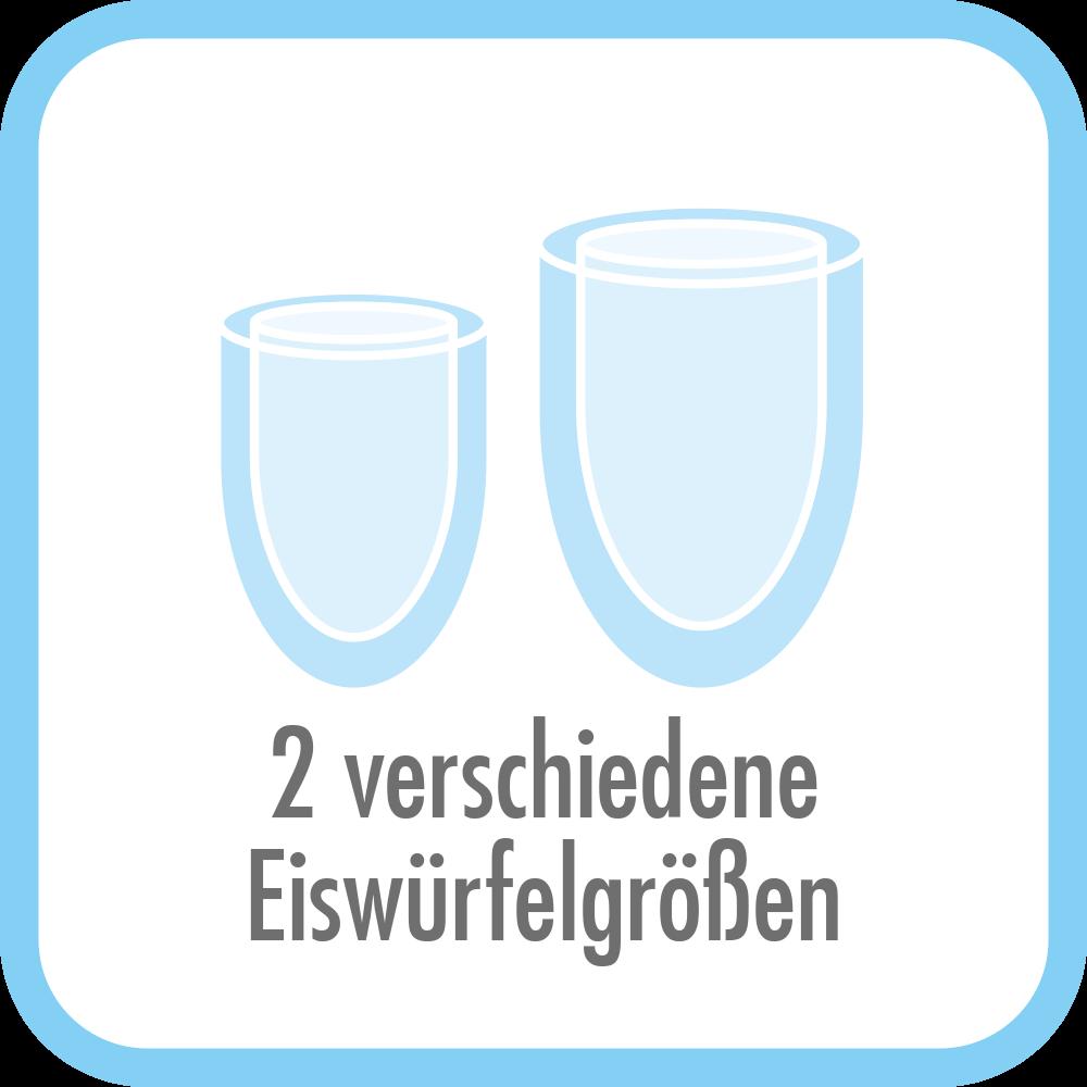 Eiswürfelbereiter Bartender Pro - Bullet-Eiswürfelform mit 2 unterschiedlichen Größen
