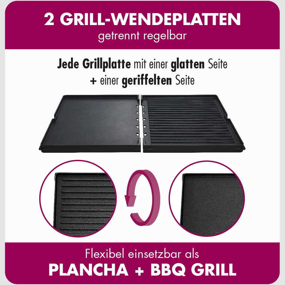 GASTROBACK® Tischgrill - 42524 Design Plancha & BBQ