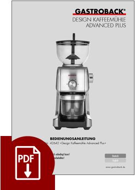42642 - Design Kaffeemühle Advanced Plus - BDA