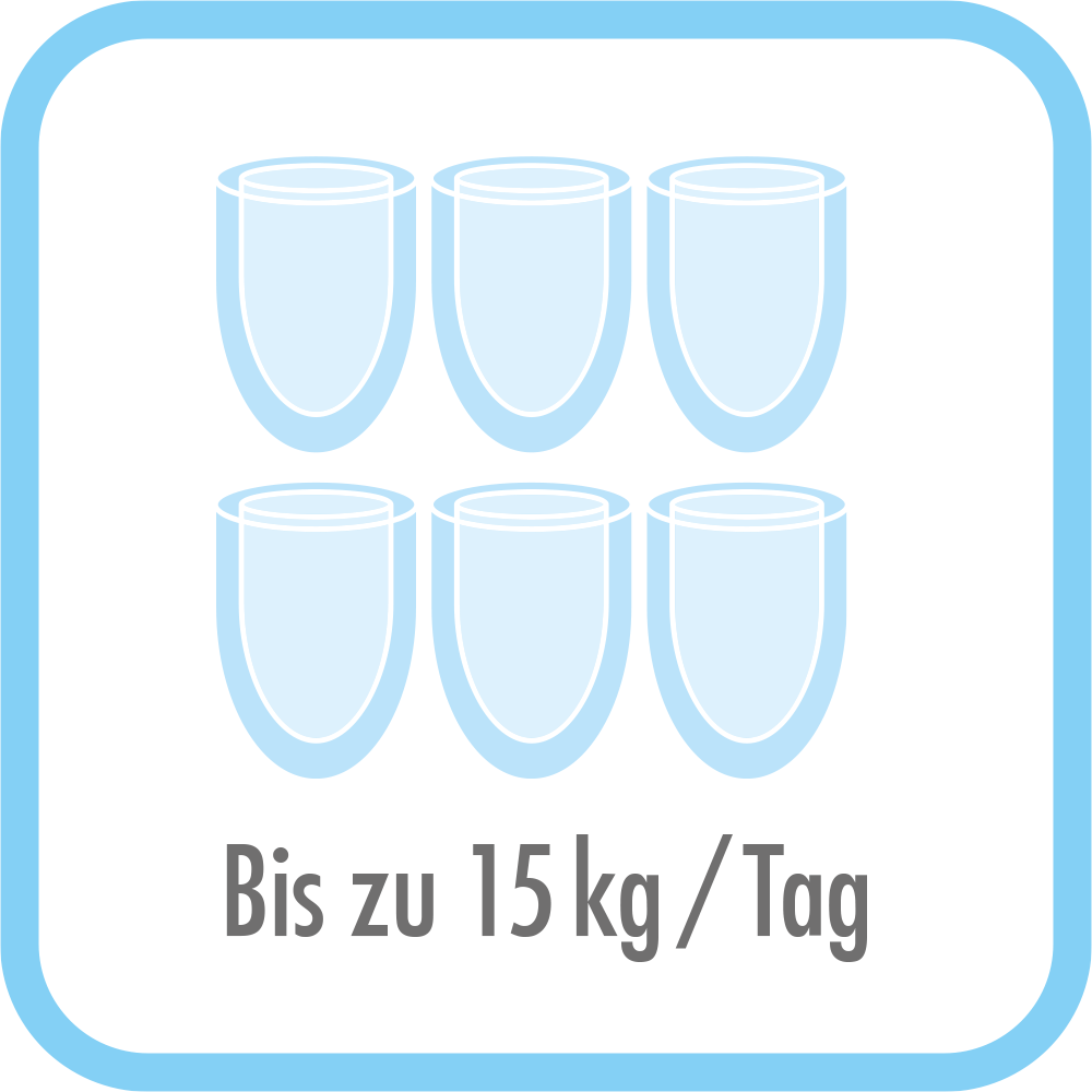 Eiswürfelbereiter Bartender Pro - Produziert bis zu 15kg/Tag