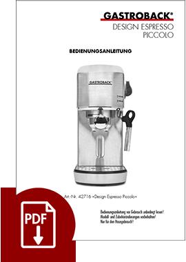 42716 - Design Espresso Piccolo - BDA