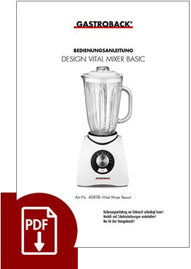 40898 - Vital Mixer Basic - BDA