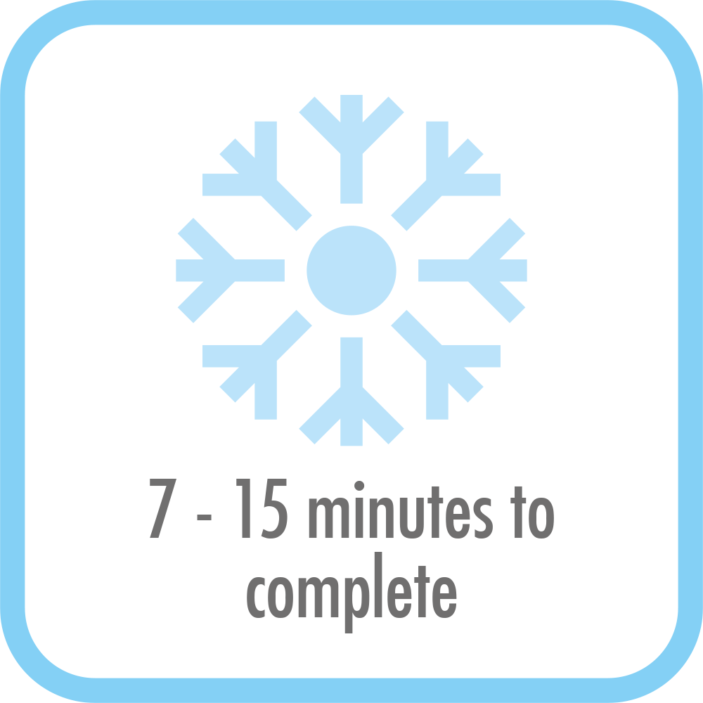 Ice Maker Bartender Pro - 7 to 15 minutes to completion