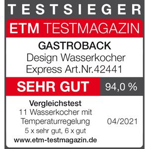 ETM Testmagazin - Testsieger - Auszeichnung