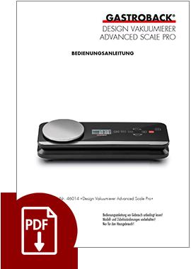 46014 - Design Vakuumierer Advanced Scale Pro - BDA
