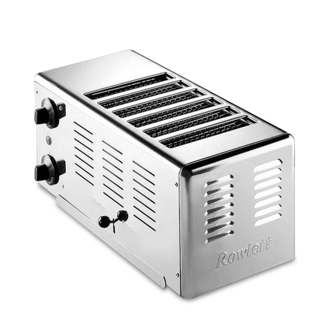Gastroback Rowlett Edelstahl-Toaster (6 Toast)