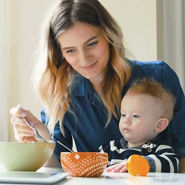 Zubereitung von Babynahrung