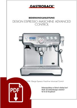 42636 - Design Espresso Advanced Control - BDA
