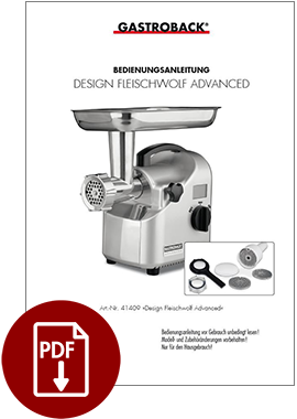 41409 - Design Fleischwolf Advanced - BDA
