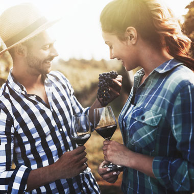 Weingenuss Paar