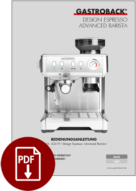 42619 - Design Espresso Advanced Barista - BDA