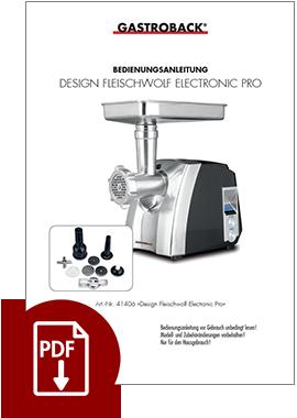 41406 - Design Fleischwolf Electronic Pro - BDA