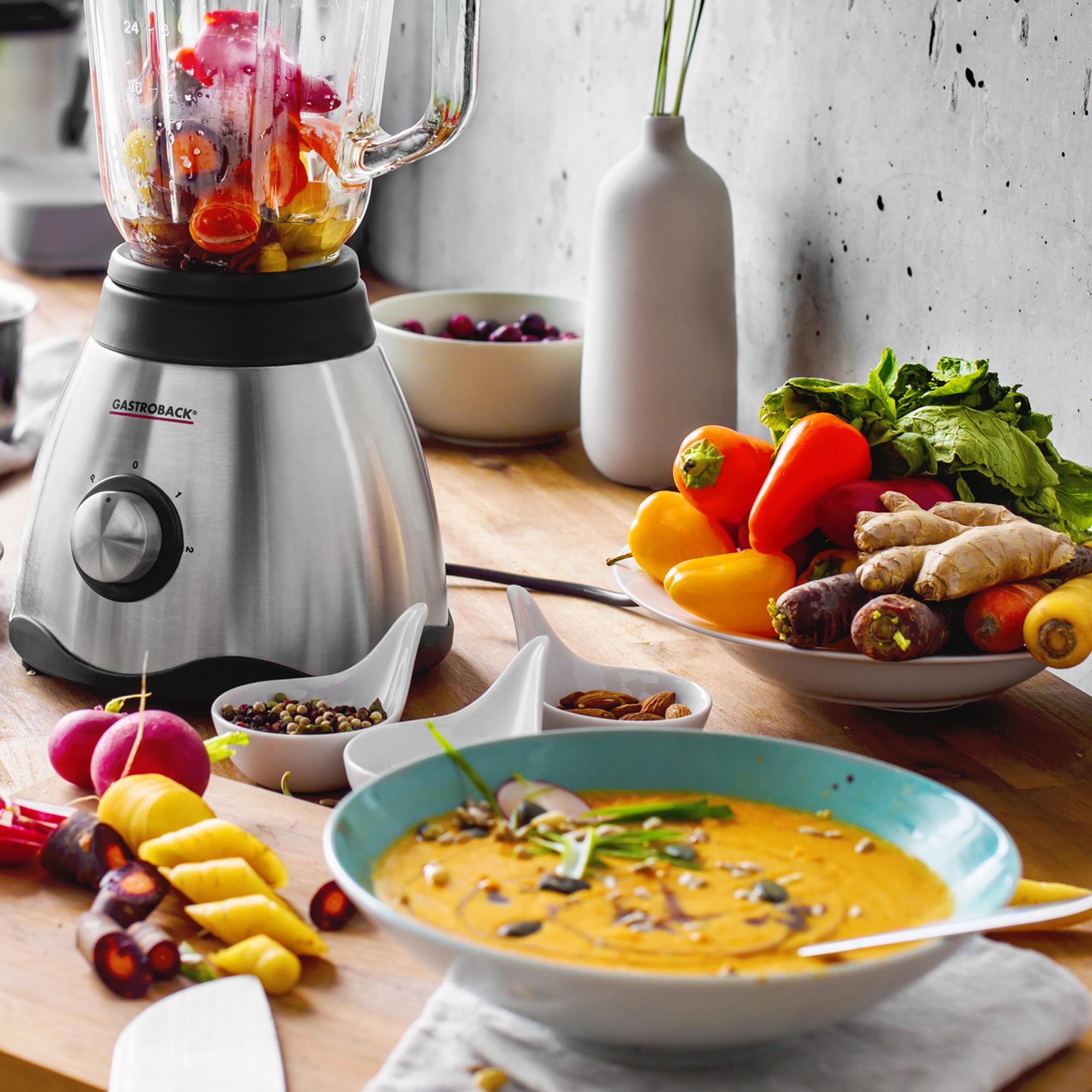 Möhren-Paprika-Suppe | Rezepte | Smoothie & Saft | Gastroback