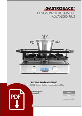 42562 - Design Raclette Fondue Advanced Plus - BDA