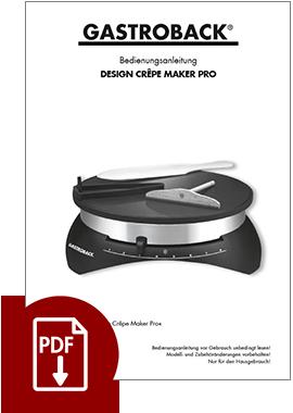 44005 - Design Crêpe-Maker Pro - BDA