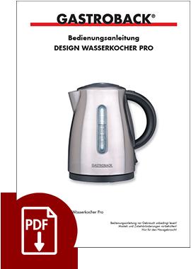 42428 - Design Wasserkocher Pro - BDA