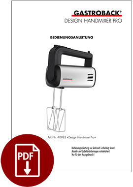 40983 - Design Handmixer Pro - BDA