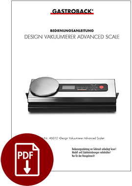 46012 - Design Vakuumierer Advanced Scale - BDA