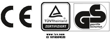 CE-Prüfzeichen, TÜV-Rheinland und GS