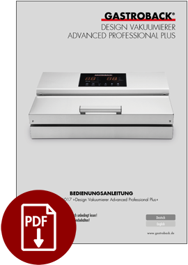46017 - Design Vakuumierer Advanced Professional Plus - BDA