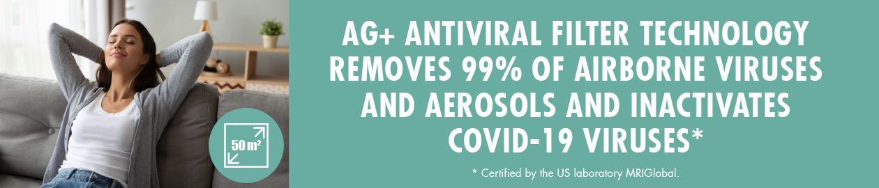GASTROBACK® Air Purifier AG+ AirProtect with Silver-Ion Antiviral Technology
