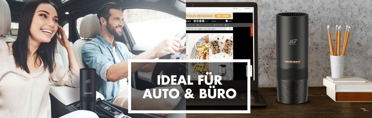 Luftreiniger AG+ AirProtect Portable - Ideal für Auto & Büro