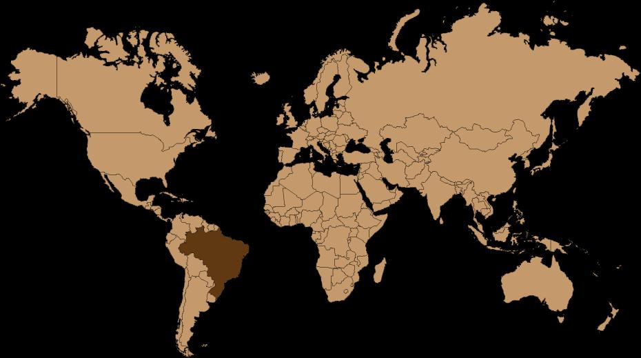 GASTROBACK® Espresso Blend Weltkarte Brasilien El Salvador