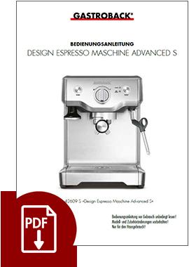 42609S - Design Espresso Maschine S - BDA