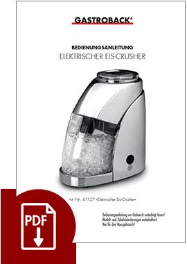 41127 - Elektrischer Eis-Crusher - BDA