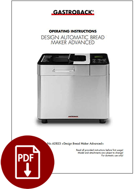 62823 - Design Automatic Bread Maker Advanced - Operating Instructions