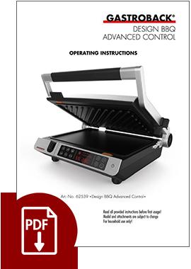 62539 - Design BBQ Advanced Control - Operating Instructions