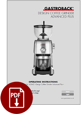 62642 - Design Coffee Grinder Advanced Plus - Operating Instructions