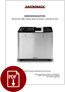 40145 - Design Brotbackautomat Advanced - BDA