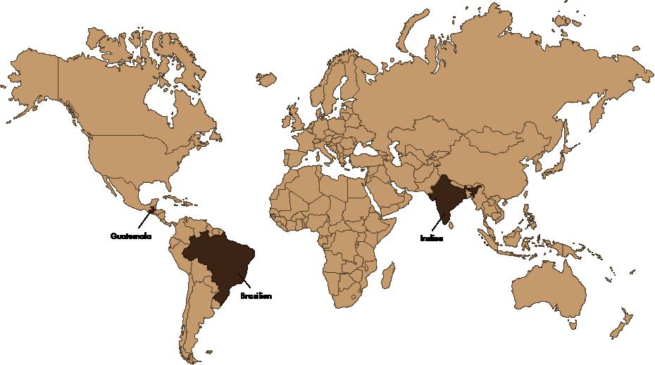 GASTROBACK® Speicherstdtkaffee_Weltkarte_Guatemala_Brasilien_Indien