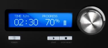 Beleuchtetes LCD-Display