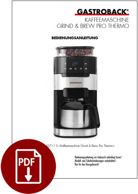 42711 S - Coffee Machine Grind & Brew Pro Thermo - BDA